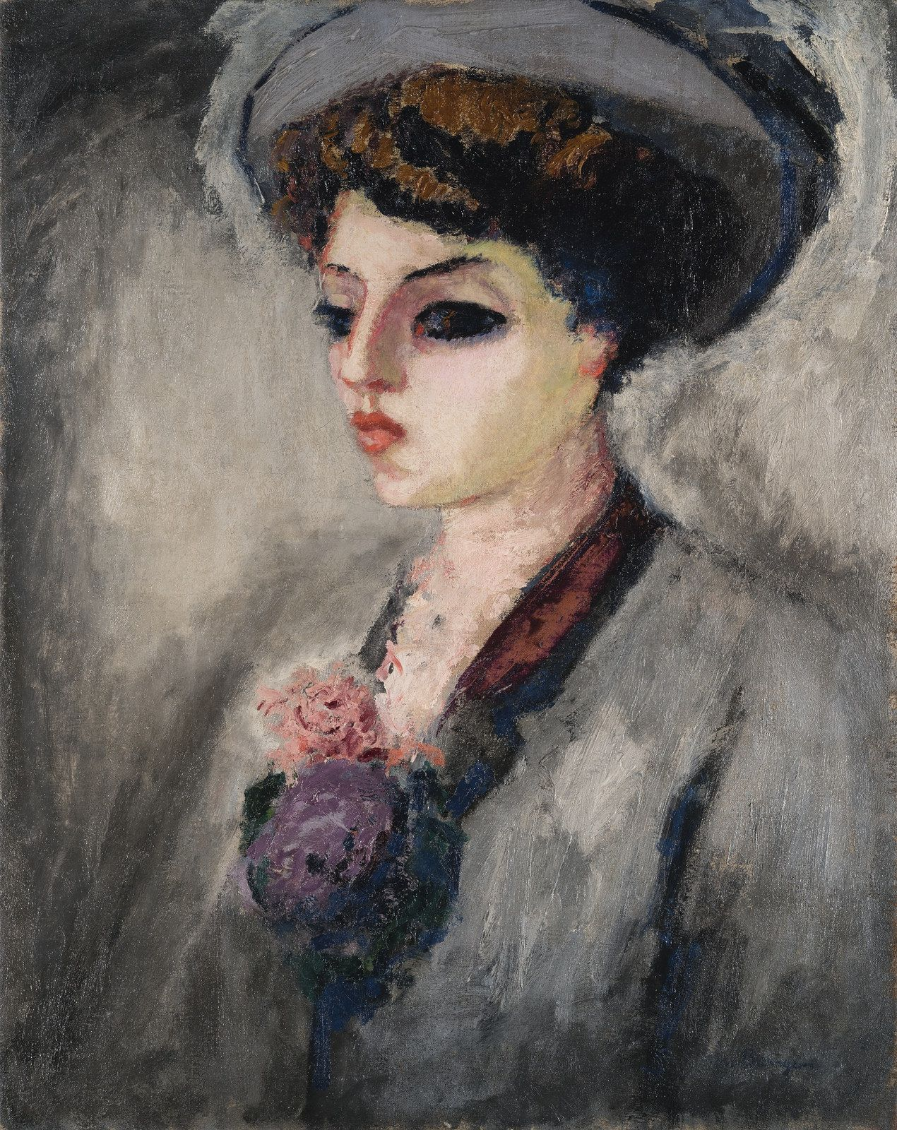 https://flic.kr/p/SLgMmc | Kees van Dongen - Femme au chapeau (Portrait de Madame Charles Malpel) [c.1907-08] | This major portrait was painted at a time of recognition for Van Dongen. Following the scandal of his first Fauvist works exhibited at the Salon d'Automne in 1905, Van Dongen developed his style, modulating the chromatic violence of his first works. The paintings from 1907-10 are none the less marked by a radical modernity, as much in their palette as in their technique. As Apollin...