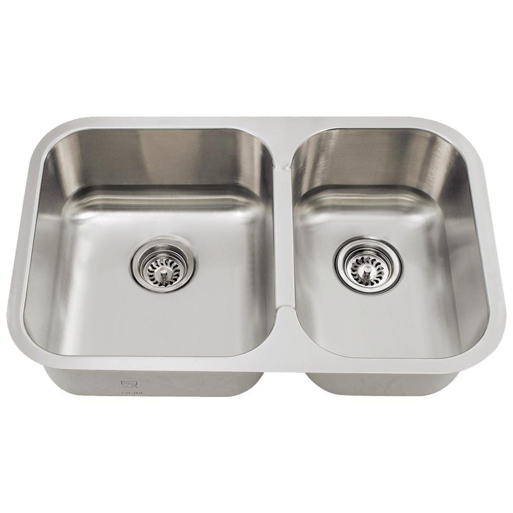 Mr Direct Undermount Stainless Steel 28 In Double Bowl Kitchen