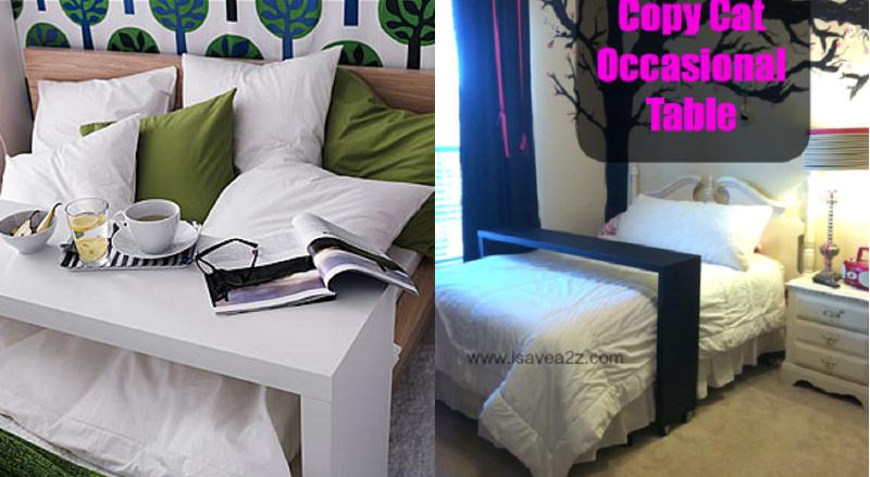 fabriquer une console de lit comme celle de chez ikea. Black Bedroom Furniture Sets. Home Design Ideas