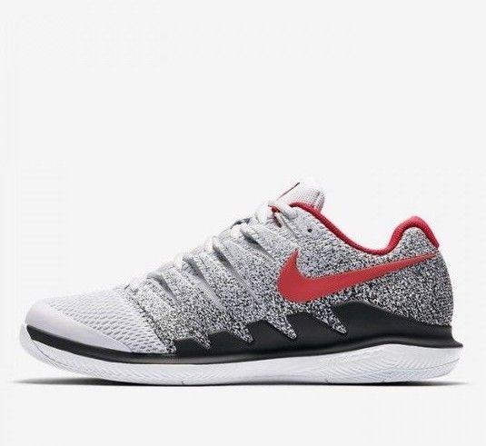 846fa08df9 Nike Air Zoom Vapor X HC Mens Tennis Shoes 10.5 Pure Platinum Red AA8030  046 #Nike #TennisShoes