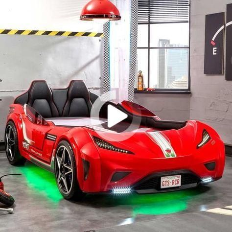 Cilek GTS Twin Race Car Bed in 2020 | Race car bed, Car ...