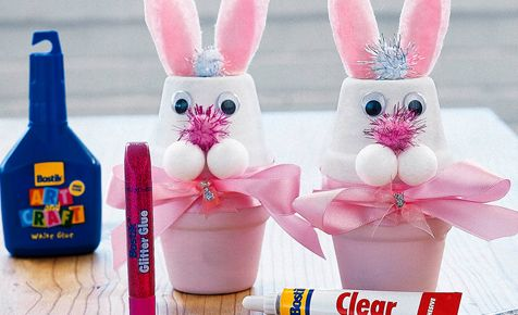 Easter Bunny Pot | Easter | Crafts | Bostik