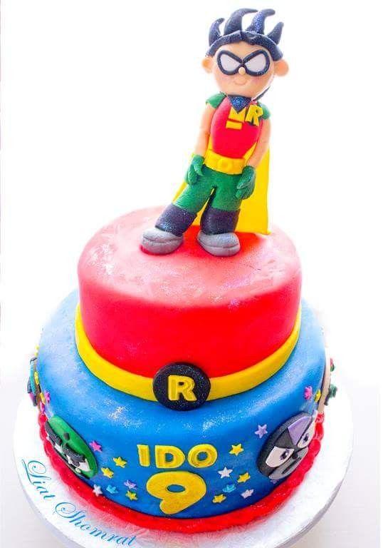 Teen Titans Birthday Cake Robin Little Bowies