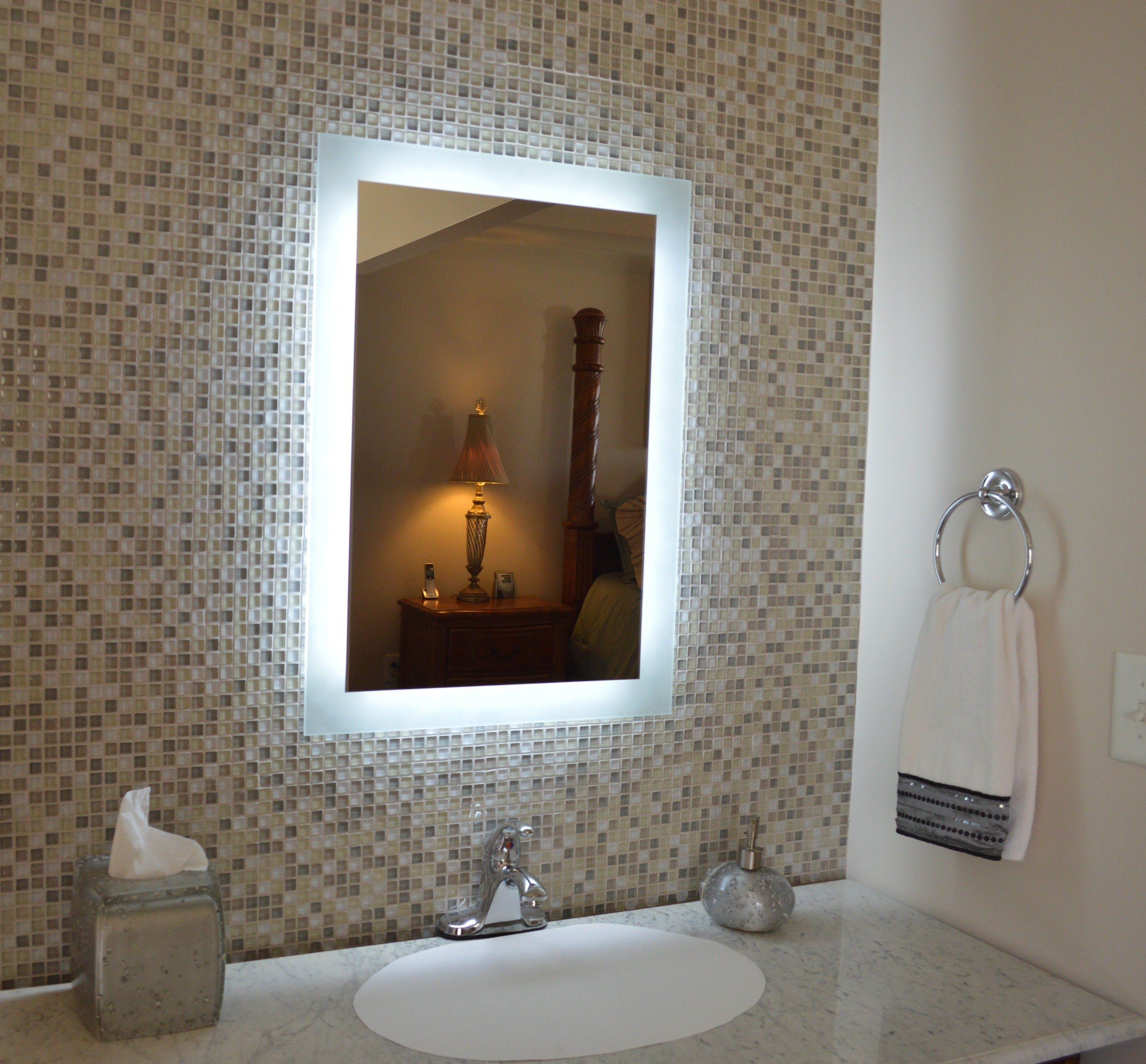 "SideLighted LED Bathroom Vanity Mirror 20"" Wide x 28"