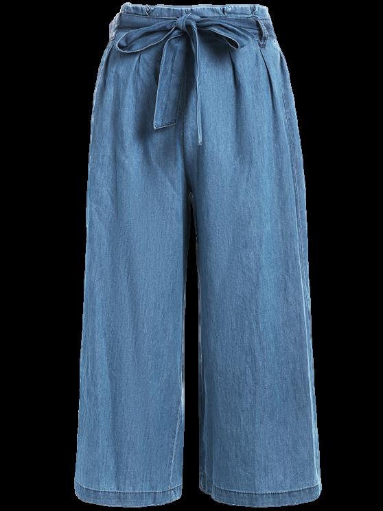 bcac300258c45b Tencel Bowknot Wide Leng Capri Pants | summer pants | Pantalones ...