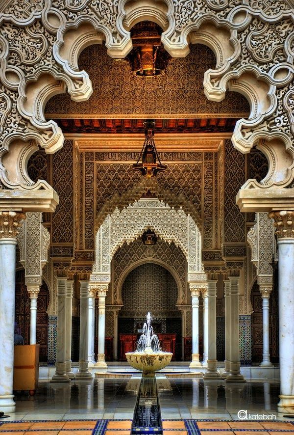 The Alhambra, 14th century moorish fortress and World Heritage by the  UNESCO, is the