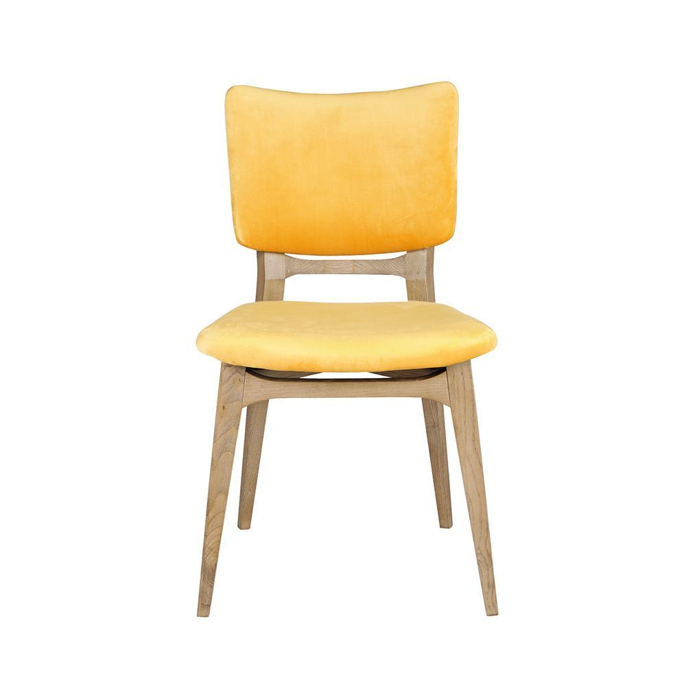 Ylva Dining Chair Yellow In 2020 Contemporary Dining Chairs
