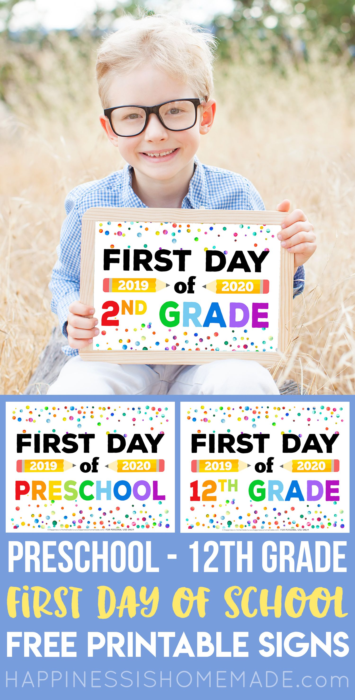 Free First Day Of School Signs Looking For Free Printable First