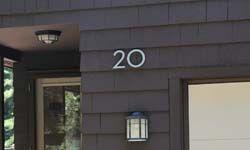Modern Dwell House Numbers Modern House Number House Numbers Shingle House