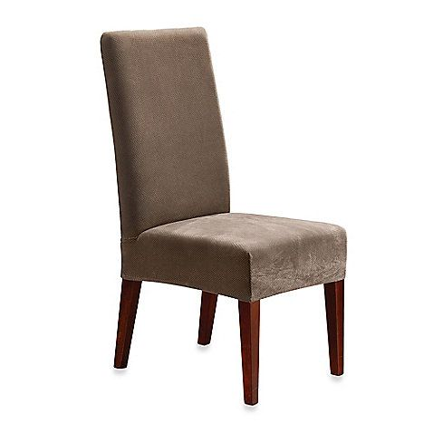 Sure Fit Stretch Pique Short Dining Room Chair Slipcover Bed Bath Beyond Slipcovers For Chairs Dining Room Chair Slipcovers Dining Room Chair Covers