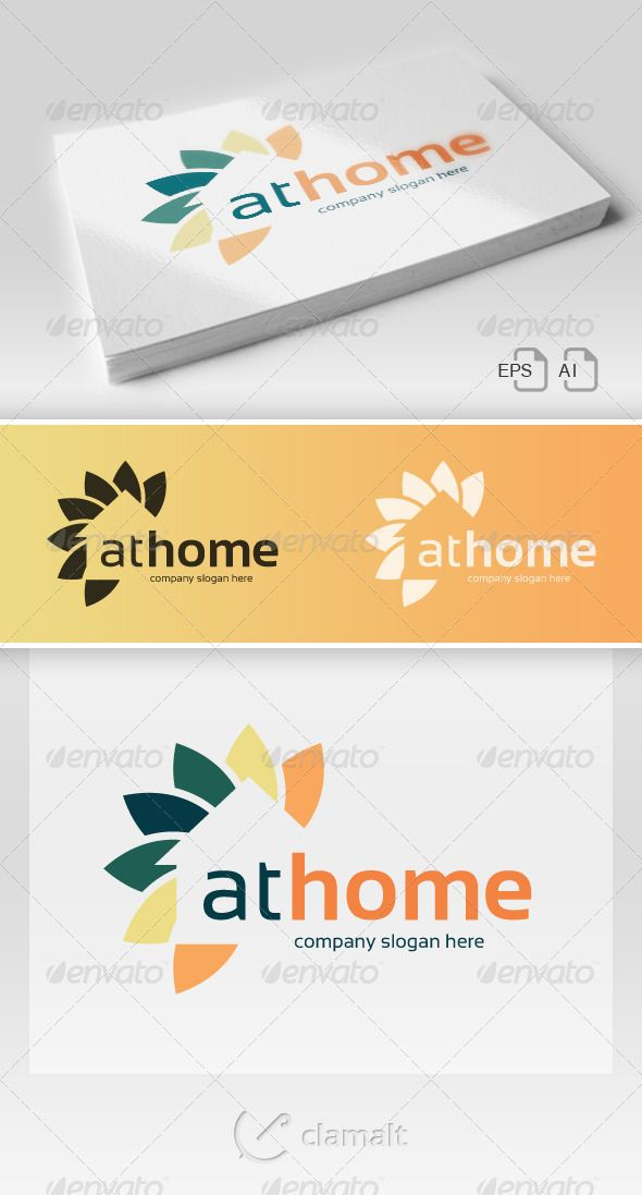 At Home Logo Vector EPS Non Profit Brand O Available Here Graphicriver Item 6985874refpxcr