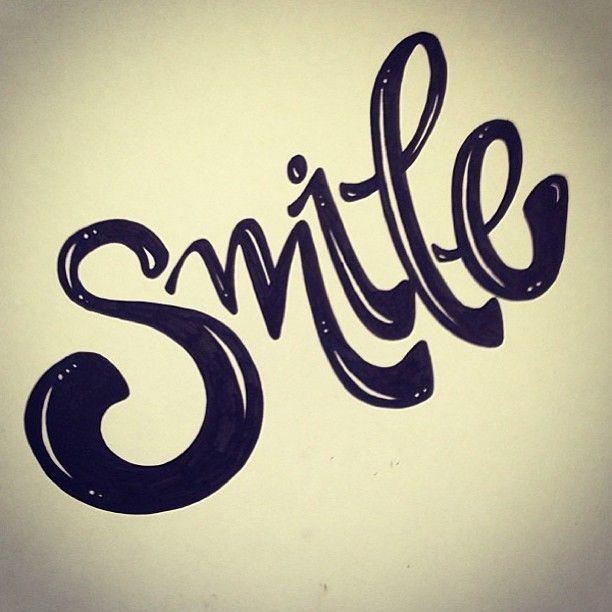 Smile hand lettering | Lettering design, Hand lettering ...