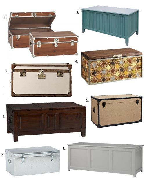 Storage chests and trunks are the perfect furniture for small spaces. They provide extra storage space can act as a coffee or side table and in a pinch ... & Small Space Storage: Chests u0026 Trunks | Pinterest | Extra storage ...