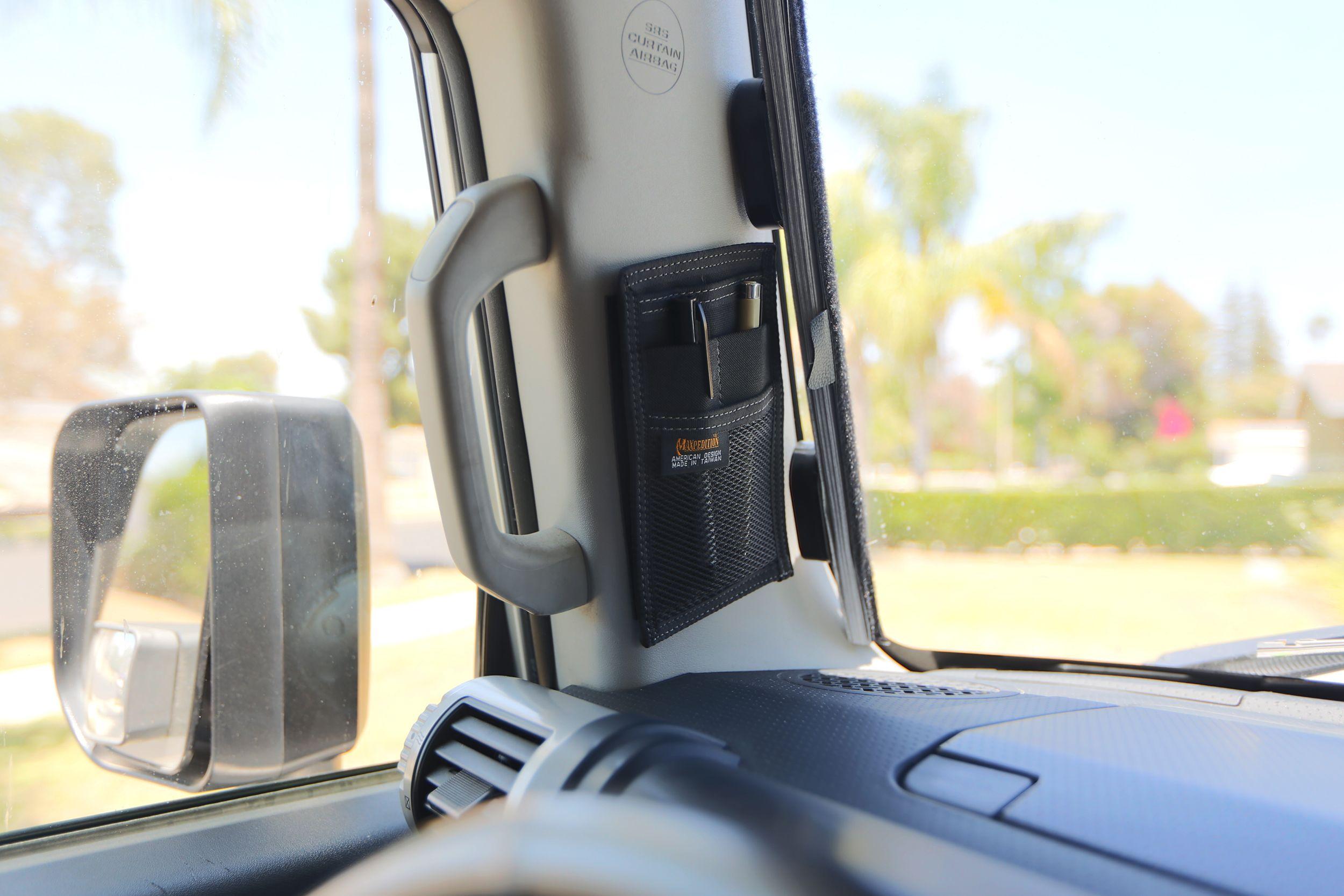Fj Cruiser Maxpedition Black Compact Hook And Loop Mini Organizer Held By 4x6 Velcro Fj Cruiser Bug Out Vehicle Toyota Fj Cruiser