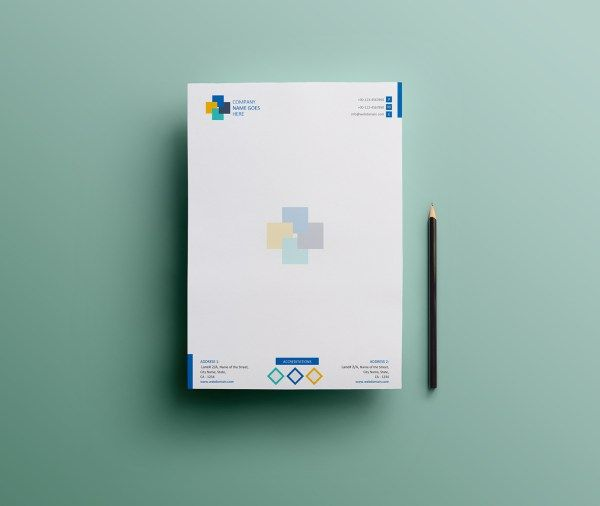 Free Simple Letterhead Template Design in MS Word Version - microsoft word letterhead template free