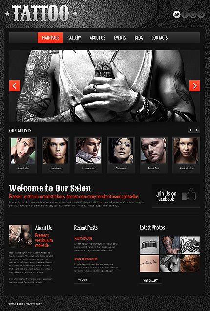 State-of-the Art Tattoos – Tattoo Business WordPress Template ...