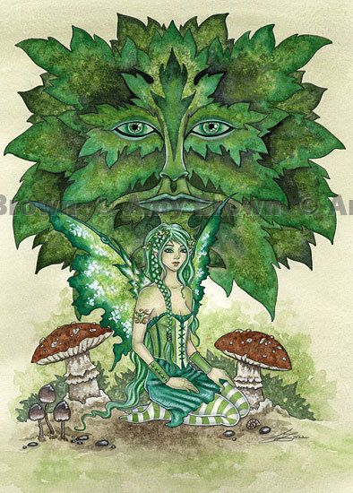 The Greenmans Daughter Fairy 8.5x11  PRINT by Amy Brown via Etsy.