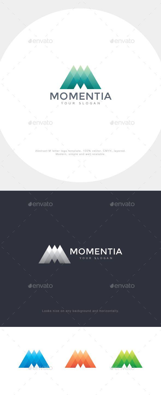 Momentia M Letter Logo Design Template
