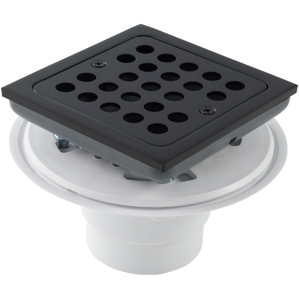 Monogram Brass Mb608 4 1 2 Square Shower Drain Matte Black