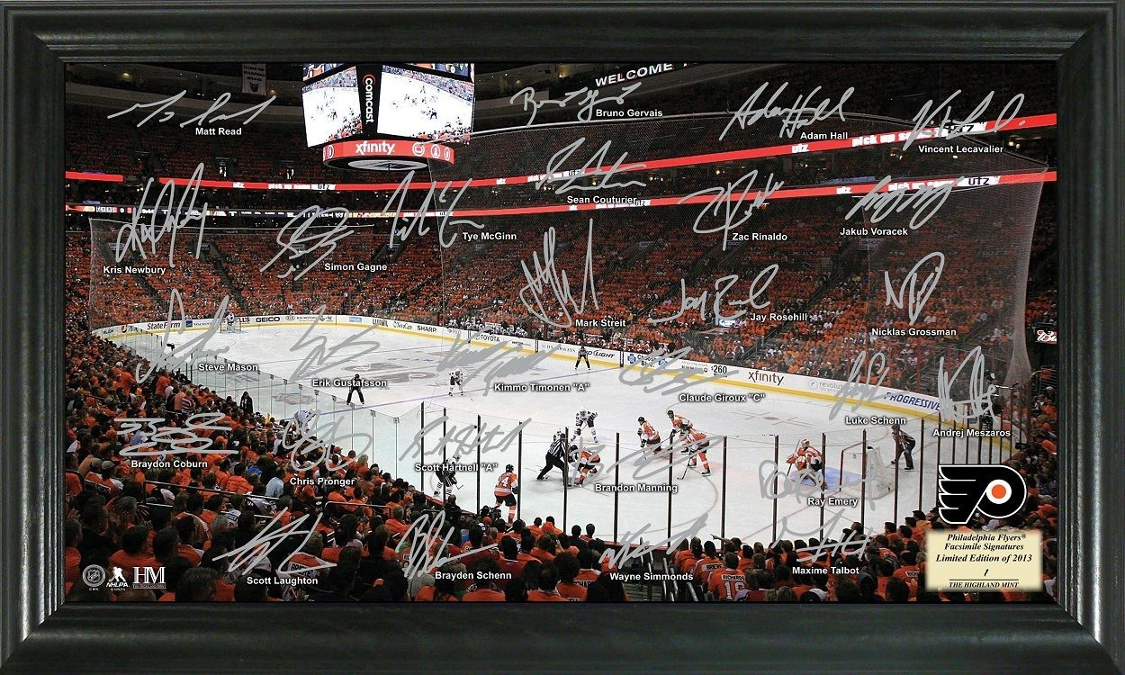 AAA Sports Memorabilia LLC - Philadelphia Flyers Signature Rink, #flyers #philadelphiaflyers #nhl #nhlcollectibles #sportscollectibles $49.99 (http://www.aaasportsmemorabilia.com/nhl/philadelphia-flyers-signature-rink/)