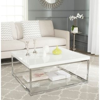 Shop For Safavieh Modern Glam Malone White Chrome Coffee Table Get Free Shipping At