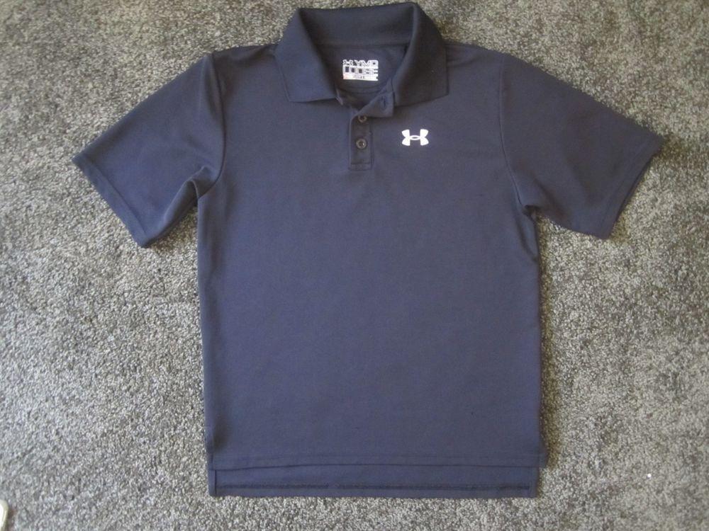 d8c76b9a Under Armour Boys Performance Golf Short Sleeve Polo Black Size M ...