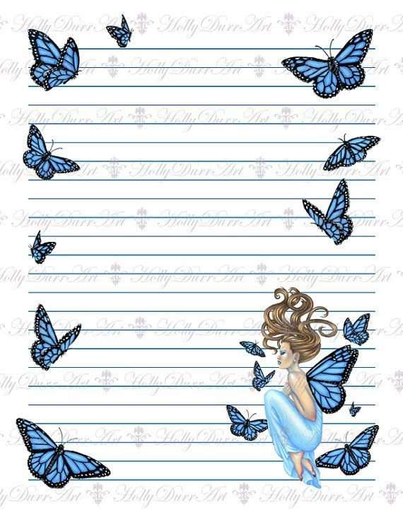 Fairy Printable Lined Paper Printable Lined Writing Paper - lined stationary template