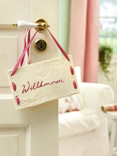 Eine Tür pimpen - schöne Kreativ-Ideen