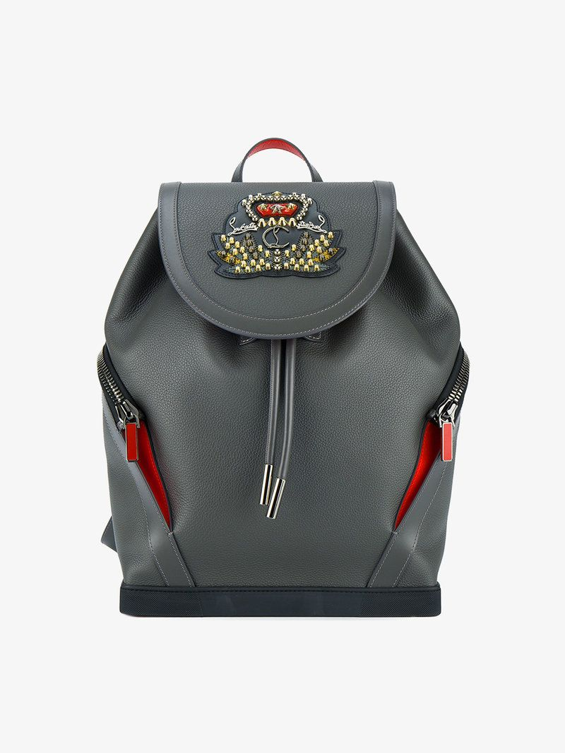 6621d964201a CHRISTIAN LOUBOUTIN EXPLORAFUNK EMBELLISHED BACKPACK.  christianlouboutin   bags  leather  backpacks