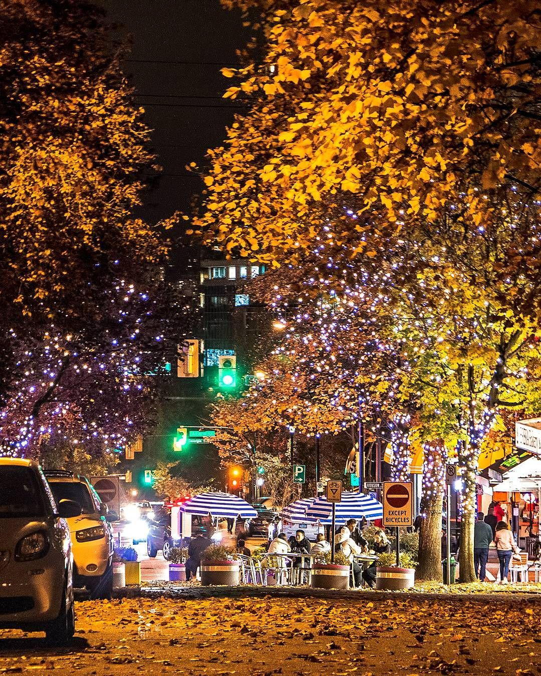 Places To Visit In Vancouver During Summer: Autumn In Vancity Bute-Robson Trial Plaza On A Beautiful