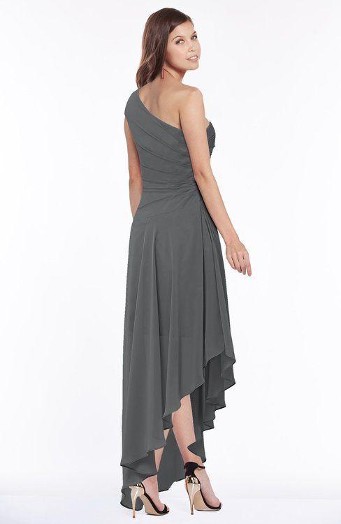 1bf4b5566211c Luxury A-line Zip up Chiffon Floor Length Ruching Bridesmaid Dresses