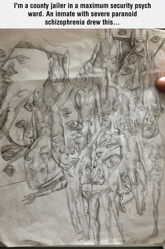 Schizophrenic Inmate Drawing In 2019 Surrealists And Psychadelics