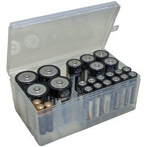 Amazon Com Battery Organizer Clear 2 75 H X 6 5 W X 3 75 D Home Garden Battery Storage Battery Sizes Storage Organization