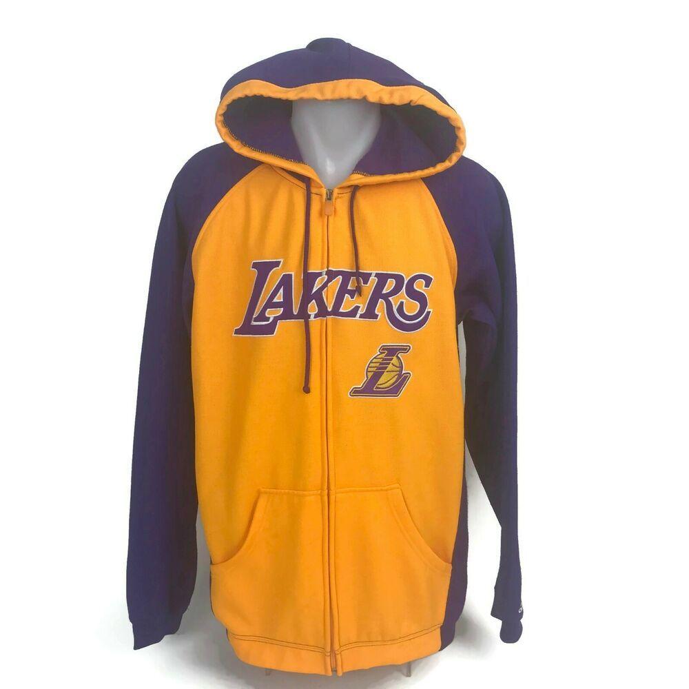 Adidas La Los Angeles Lakers Nba Full Zipper Hoodie Sweatshirt Jacket Size Small Adidas Losangel Full Zipper Hoodie Zipper Hoodie Sweatshirt Football Hoodies