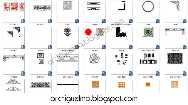مجموعة من الزخارف الاسلاميه بصيغة DWG 2D All Posts Pinterest