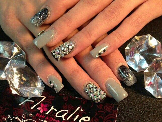 Christmas Nail Diamond Black Grey Fantaisie De Mily
