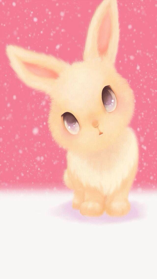 Bunny Rabbit Iphone Wallpaper Background Cute Bunny Cartoon Cute Kawaii Animals Rabbit Cartoon