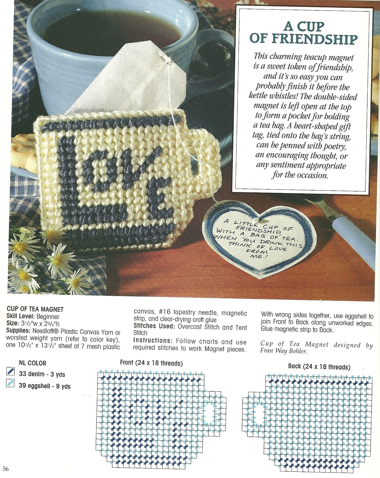Heart-Shaped Decor Baskets /& More plastic canvas pattern book NEW Heart Pockets