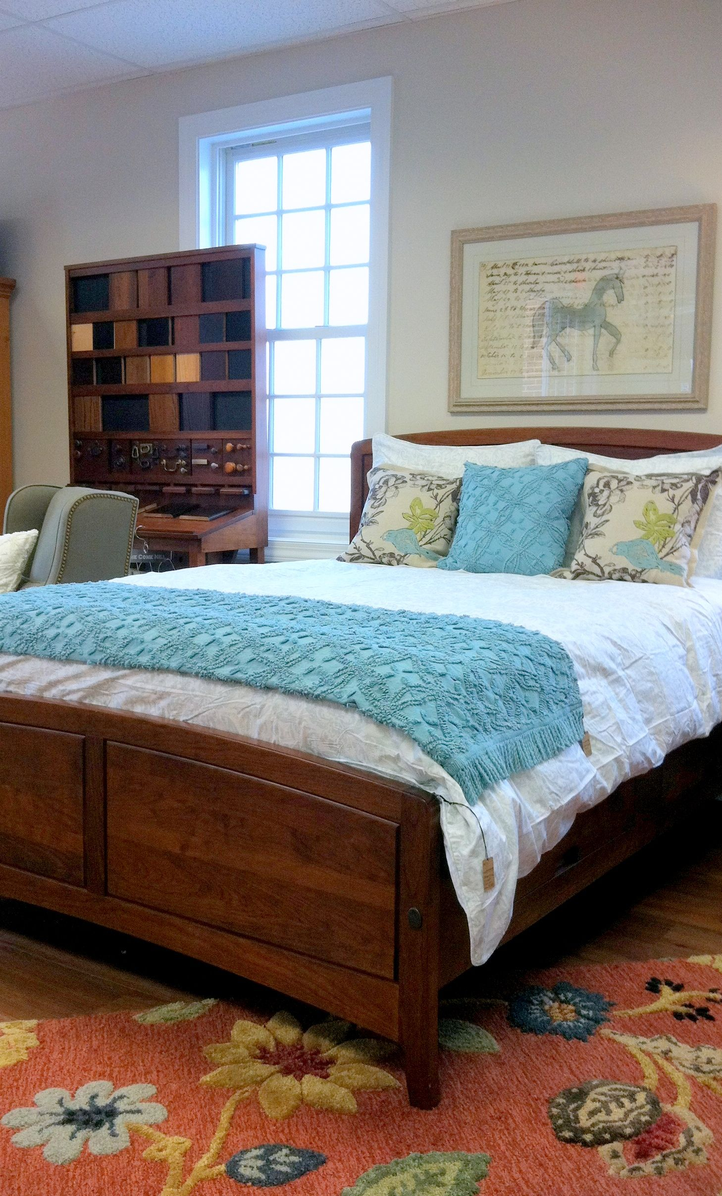 Gat Creek Chelsea Storage Bed Covered In Pine Cone Hill Bedding