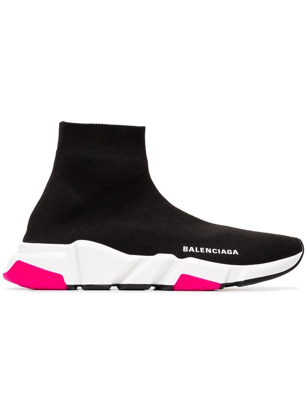 High top sneakers, Balenciaga speed