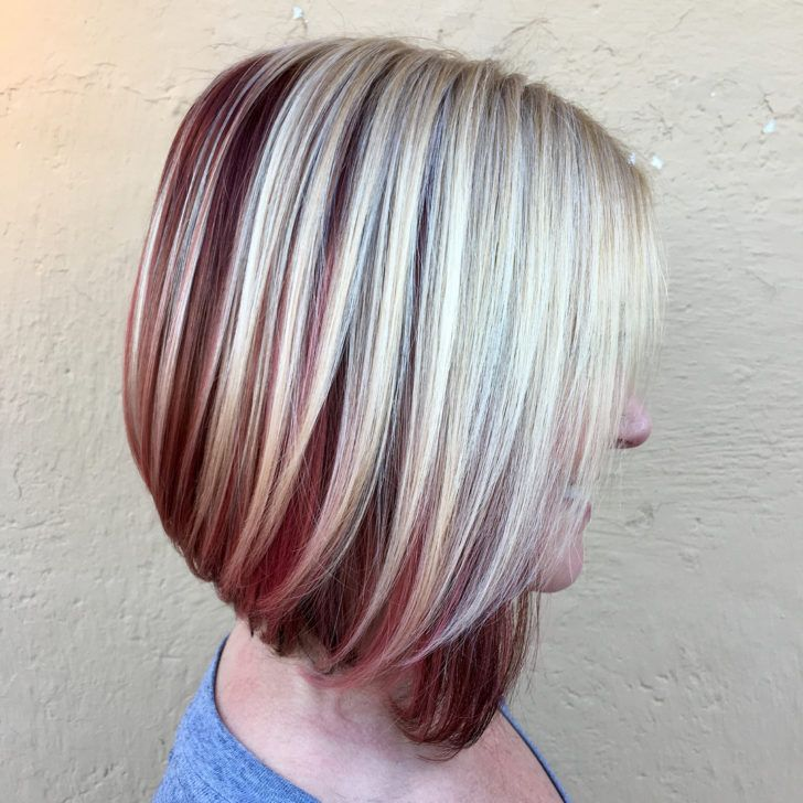Inverted Bob Haircut #edgybob Edges hair type with additional edgy bob styles short trendy inverted haircuts in violet purple plum most popular long hairstyles latesthairstylepedia amusing stylist #edgybob