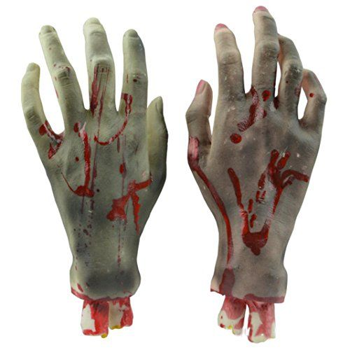 Hatop Halloween Horror Props Bloody Hand Haunted House Party