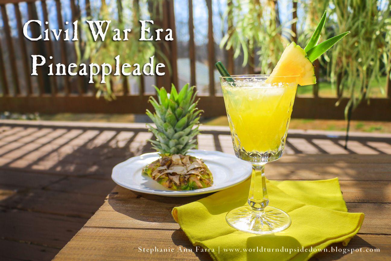 Civil war era pinappleade recipe war recipe vintage