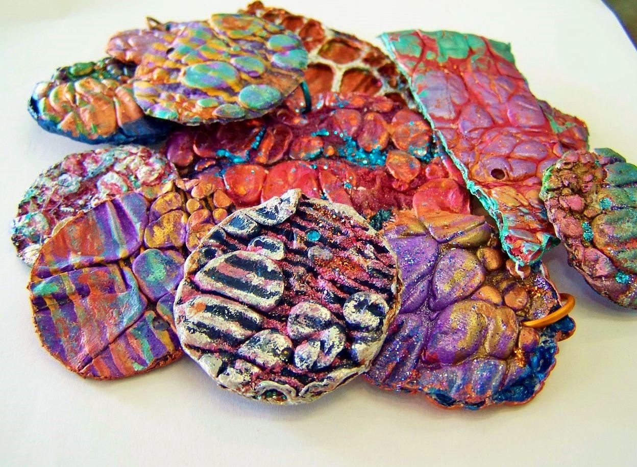 Tina's (aka the Bead Momma's) handmade Tyvek Pendants