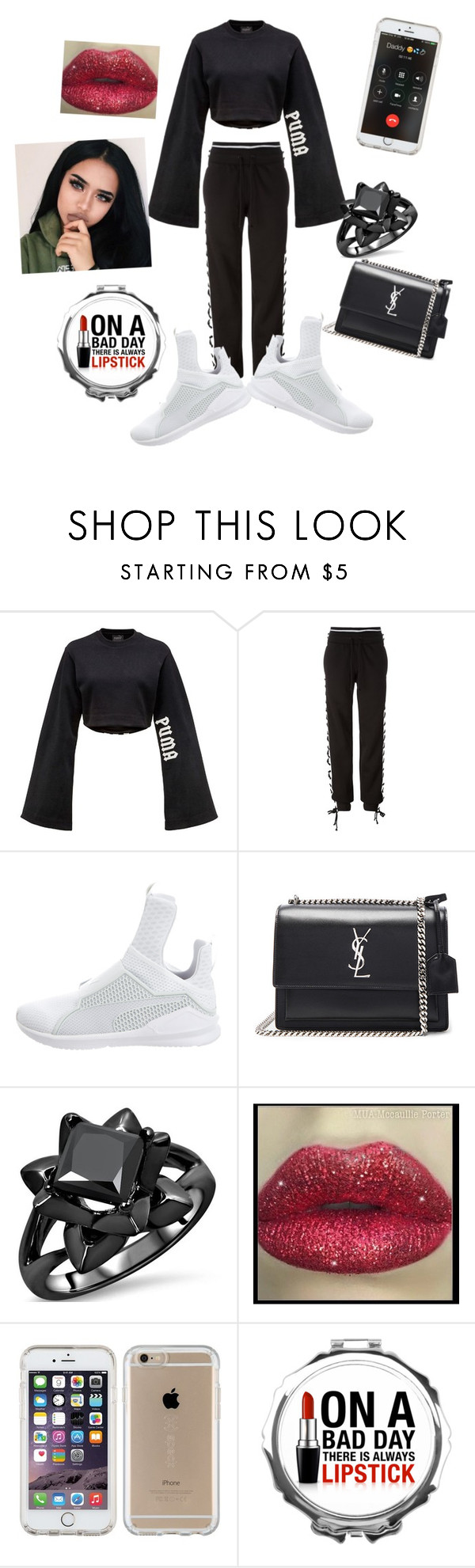 """""""Untitled #162"""" by swag345 ❤ liked on Polyvore featuring Puma, Yves Saint Laurent and Speck"""