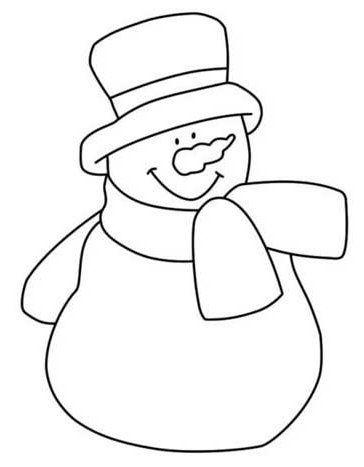 Dibujo de muñeco de nieve | Navidad | Pinterest | Nähen, Nähen ...