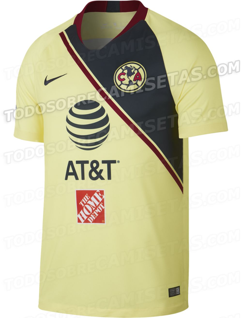 2849583802c Jerseys Nike de Club America 2018-19