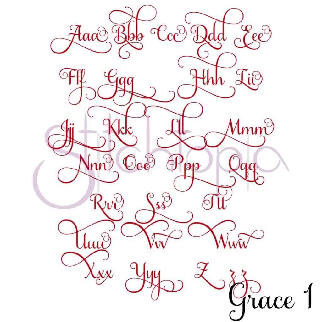 Stitchtopia Grace 1 Monogram Set
