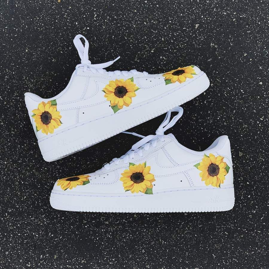 Sunflower AF1 in 2020 Nike air shoes, Diy shoes, Custom