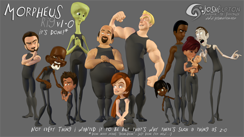 Free Character Rig - Morpheus for Maya - Josh Burton (Watch